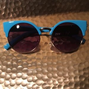 ZeroUV Vintage Indie Circle Cat Eye Sunglasses